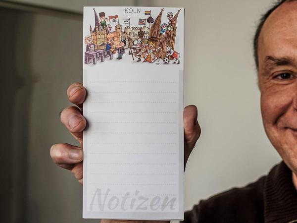 Jacques Tilly Notizblock magnetisch Köln