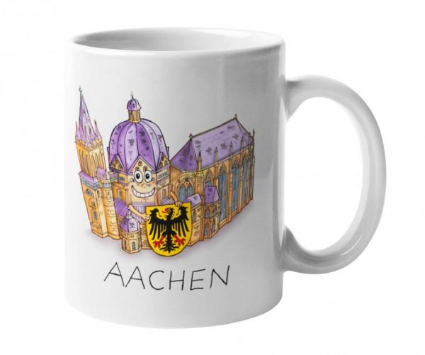 Tasse mit Motiv Aachener Dom von Jacques Tilly