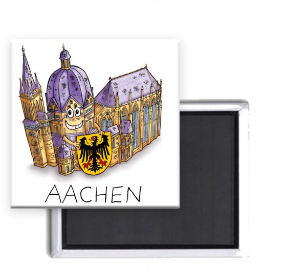 Magnet mit Motiv Aachener Dom von Jacques Tilly