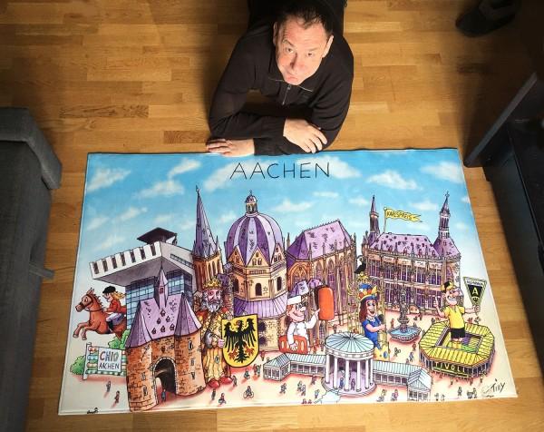Jacques Tilly Bodenteppich Aachen