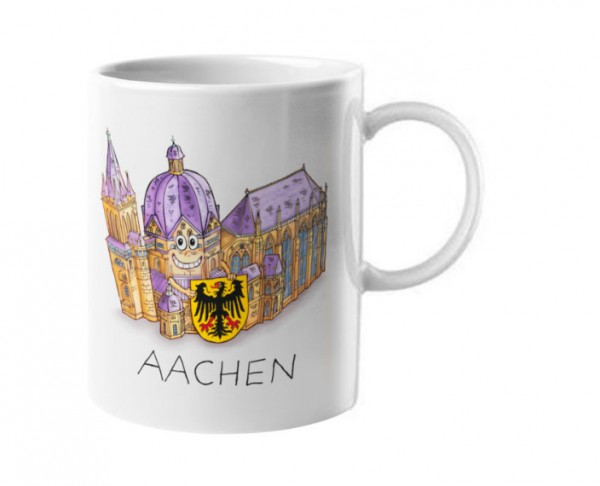 Espressotasse mit Aachener Dom von Jacques Tilly