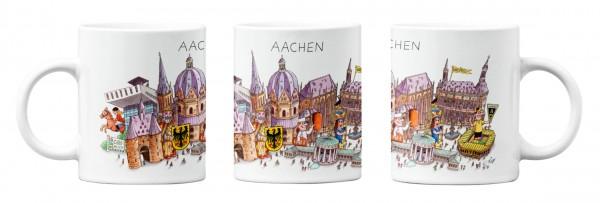 Tasse Aachener Panorama von Jacques Tilly - alle Ansichten